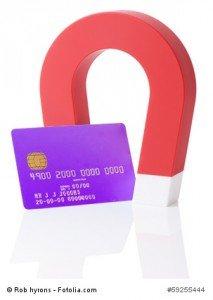 Vorsicht bei Magneten in der Nähe von Kreditkarten