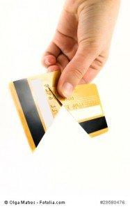 Zerstörte Kreditkarte